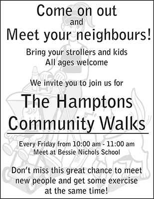 The Hamptons Community Walk program