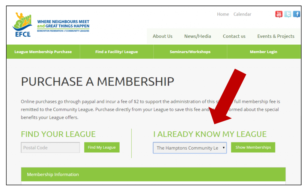 online membership purchases