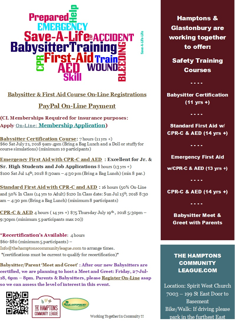 Babysitter Certification And First Aid Courses Hamptons